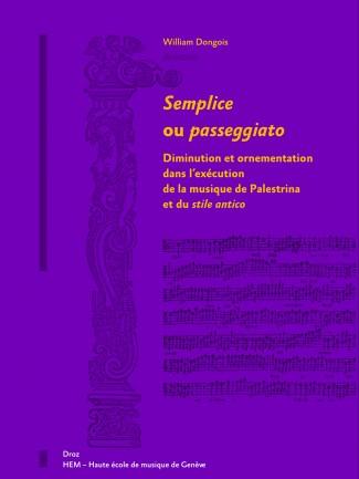 Couverture de l'ouvrage Semplice o passeggiato  © HEM - Genève.