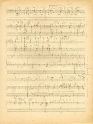 Henri Gagnebin, Brouillon de la Symphonie en fa, Bibliothèque du Conservatoire de Musique de Genève.