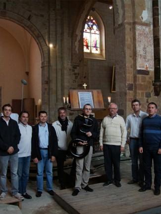 Photo de Jean-Christophe Candau, Séance d'enregistrement à l'Abbaye de La Roë (Mayenne, France).