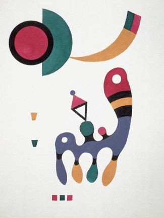 Composition de Vassily Kandinsky, 1944.