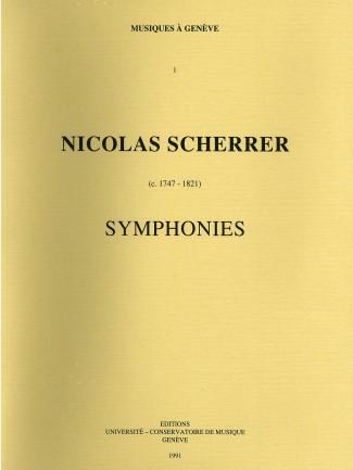 Couverture de l'ouvrage Nicolas SCHERRER (1747-1821) : Symphonies © HEM - Genève.