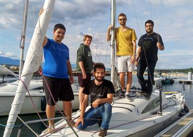 Photo du sailing team HEPIA pour le BOM 2019
