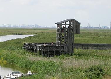 L'Observatoire, Belvédère vue sur la Loire, les marais, les cheminées