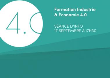 Visuel séance d'information Industrie et Economie 4.0