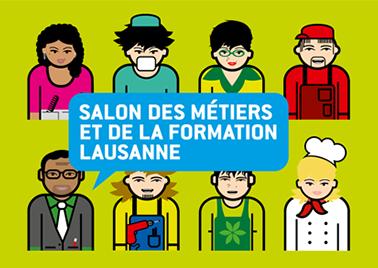 Visuel du salon des métiers et de la formation de Lausanne