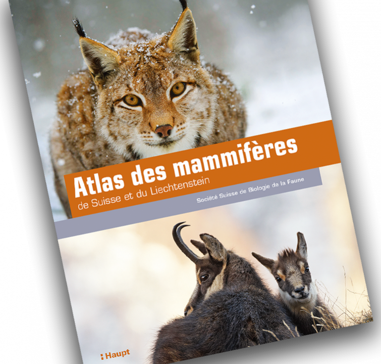 Couverture de l'Atlas des mammifères de Suisse et du Liechtenstein