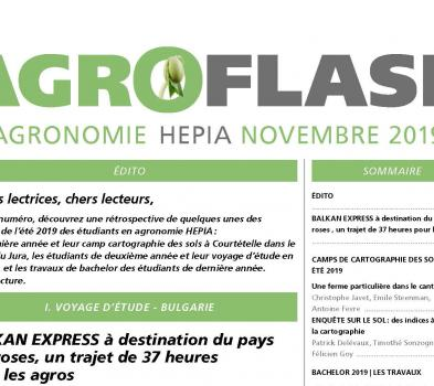 Couverture Agroflash novembre 2019
