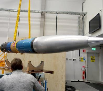 ARES II, déplacement de la fusée