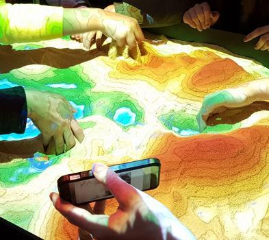 Bac à sable de réalité augmentée réalisé par HEPIA
