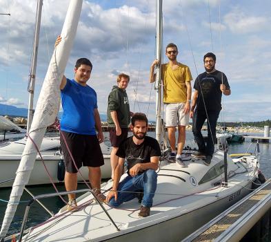 Photo du sailing team HEPIA pour le BOM 2019