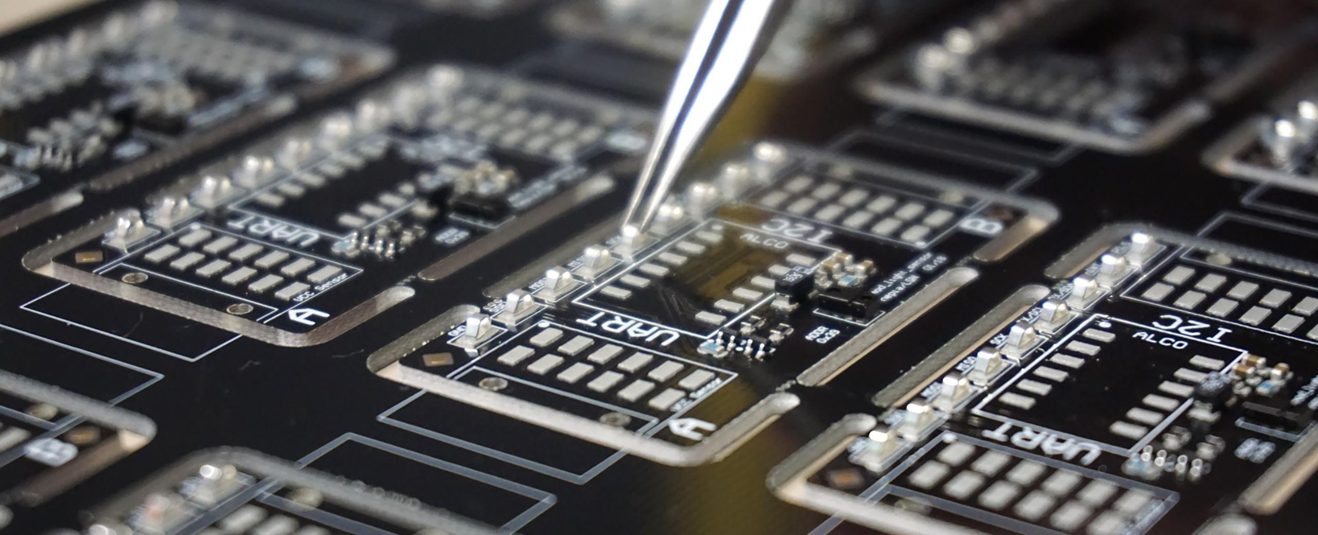 production de circuits électroniques