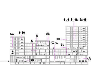 Visuel bâtiment multifonctionnel